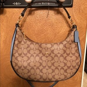 Coach East/West Harley Hobo Signature Canvas BNWT!